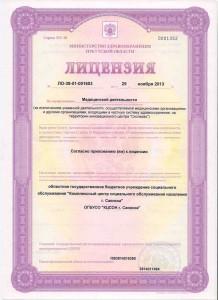лицензия 1лист